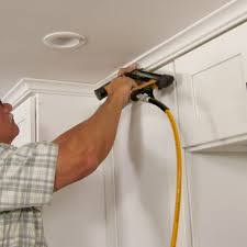 how to add crown moulding to cabinets how to hang crown molding on kitchen cabinets this house