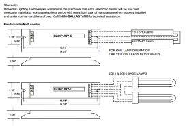 universal accustart5 b224punv c 2 lamp f24t5ho electronic