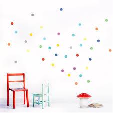 watercolour confetti dots wall stickers chocovenyl watercolour confetti dots wall stickers