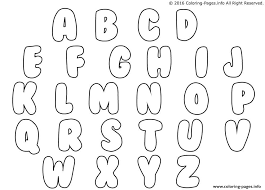 to write the alphabet in bubble letters