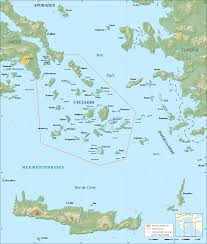 Santorini Greece Map by History Of The Cyclades Wikipedia