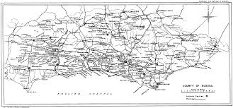 Sussex England Map by Highways And Byways In Sussex By E V Lucas