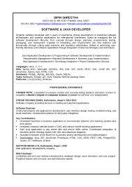 C Programmer Resume Resume Java Developer Example Virtren Com