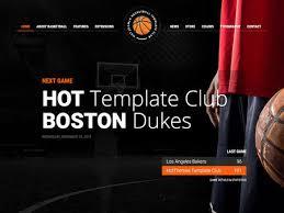 joomla template basketball