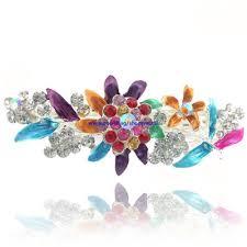 beautiful hair pins qoo10 beautiful hair hairpins jewelry flowers rhinestone