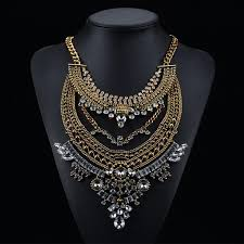 gold vintage statement necklace images Best bohemian necklaces vintage colar collier tassel choker collar jpg