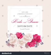 Wedding Invitation Cards With Photos Wedding Invitation Cards Rosesbeautiful White Red Stock Vector