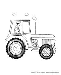 farm tractor coloring pages printable enclosed cab tractor