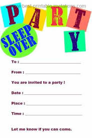 free printable slumber party invitations template best template