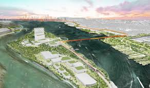 designers envision philly island with sky farm marina and more