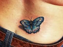 lower back cover up with beautiful blue butterfly