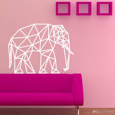 geometric elephant vinyl cartoon wall decal sticker home geometric elephant vinyl cartoon wall decal sticker home decoration art mural for living room bedroom wall decals design wall decals designs from flylife