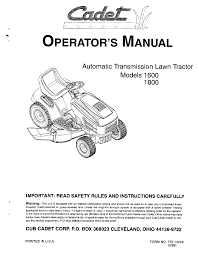 cub cadet lawn mower 1800 user guide manualsonline com