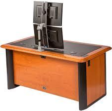 computer desk for dual monitors switch dual monitor arm caretta workspace