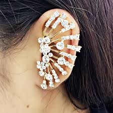 earring top of ear trendy gold ear tops designs fashion ear cuff earrings left side