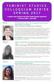 Ucsc Map Feminist Studies Colloquium Series Susan O U0027neal Stryker