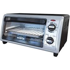 Under Cabinet 4 Slice Toaster Black Decker 4 Slice 2 Knob Toaster Oven Silver To1332sbd