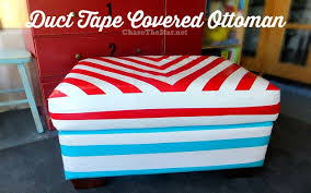 Upcycle Ottoman Duct Covered Ottoman