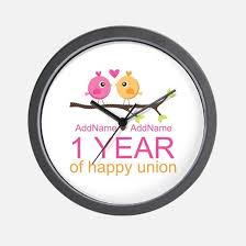 personalized anniversary clocks 1st wedding anniversary 1st wedding anniversary clocks 1st