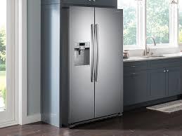 Cabinet Depth Refrigerator Reviews 22 Cu Ft Counter Depth Side By Side Refrigerator Refrigerators
