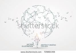 lines connected science fiction scene symbolizing stock vector