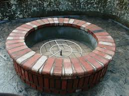 Firepit Bricks Diy Brick Firepit Ideas Fireplaces Firepits How To Diy