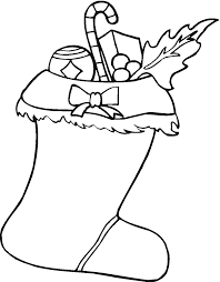 christmas stocking coloring pages print coloring pages