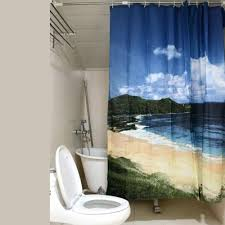 Coastal Shower Curtain by Ocean Beach Themed Shower Curtain Best House Design Wonderful