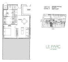 The Parc Condo Floor Plan Floor Plans Of Le Parc Condo Miami