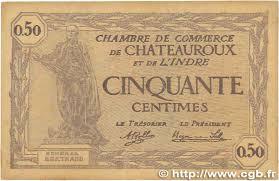 chambre de commerce chateauroux 50 centimes régionalisme et divers chateauroux 1920 jp 046 24
