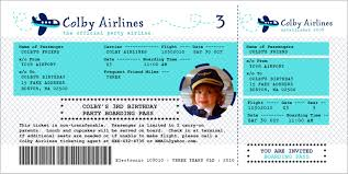 airplane invitation template funny kids airlines ticket template example with cute pilot photo