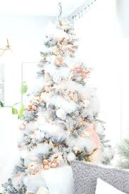 live decorated tabletop christmas trees delivered white tree