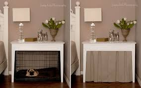 end table cover ideas nightstand marvelous dog crate nightstand furniture dog crate
