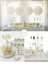 white party table decorations white and yummy engaged inspired wedding planning