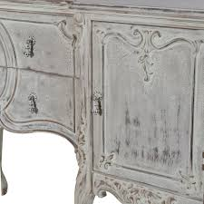 distressed french carved sideboard