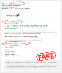 false email example