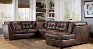 Leather Sectional Sofa Clearance Brown Leather Mixed Brown Microfiber Sleeper Sofa Combined