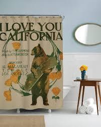 Frankenstein Shower Curtain by Amazon Com Sharp Shirter I Love California Shower Curtain Home