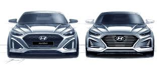 range rover sketch 2018 hyundai sonata facelift sketches go official u2013 update