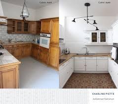 home staging cuisine avant apres carrelage métro crédence home staging poignées laiton avant après