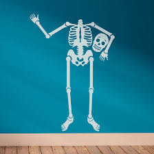 happy bones u0027 skeleton wall sticker by oakdene designs