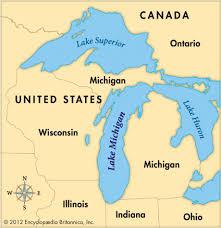 map of michigan lakes lakes of michigan map michigan map