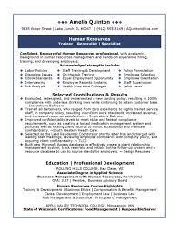 hr resume template sle human resources resume resume templates