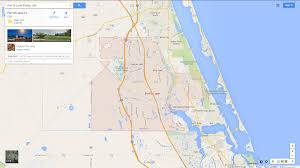 Florida On The Map by Map Of St Lucie Florida You Can See A Map Of Many Places On The