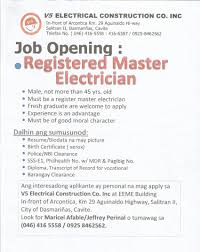 Resume Of An Electrician Registered Electrical Engineer Registered Master Electrician