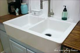 24 inch farmhouse sink kitchen room awesome 36 inch white farmhouse sink double bowl