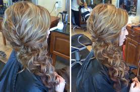prom hairstyles side curls hairstyles side swept curls with braid