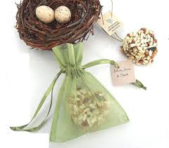 bird seed favors bird seed hearts wedding party favors organza bags personalized