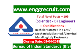 bis bureau bis recruitment for scientist b engineers 109 posts 2018