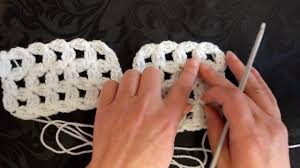 how to crochet my flower trellis pattern for shawls scarves